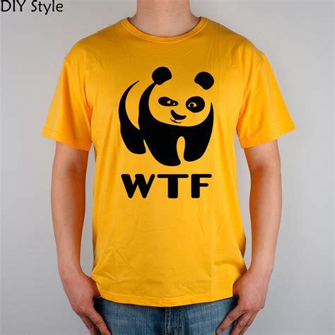 Wwf White Shirt Quality Distro wwf faces panda t shirt cotton lycra top 8305 fashion brand t shirt new diy style