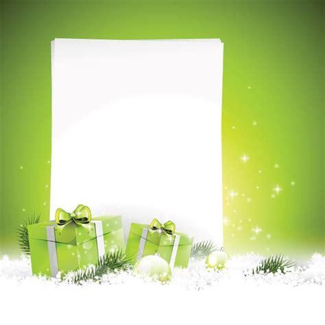 vector beautiful merry christmas gift box  ball  brunch fir  empty paper