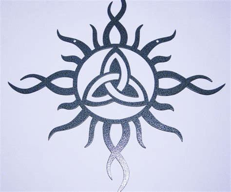 Celtic Sun With Trinity Knot Celtic Sun Meaning