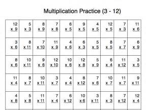 free multiplication practice sheet for numbers 3 12 100