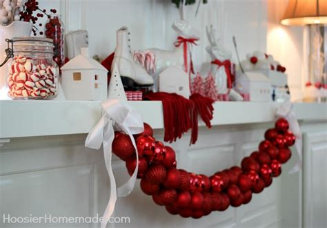 Paint Color Of The Year 2017 christmas mantel red and white themed hoosier homemade