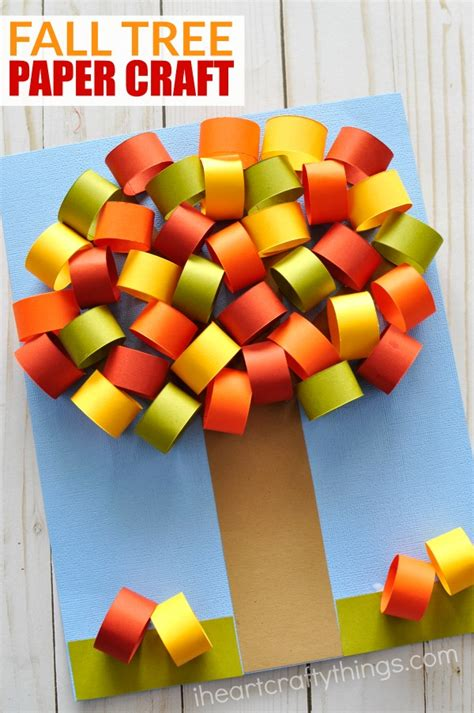 Fall Paper Crafts - beautiful fall tree paper craft i crafty things