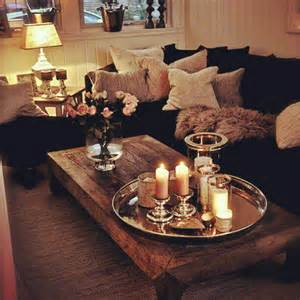 Fur Duvet Cover Lighting Cozy Living Room Sofa Candles Lighting Ideas