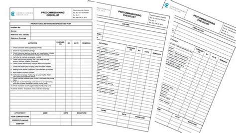 Commissioning Checklists Hvac Hvac Start Up Report Template