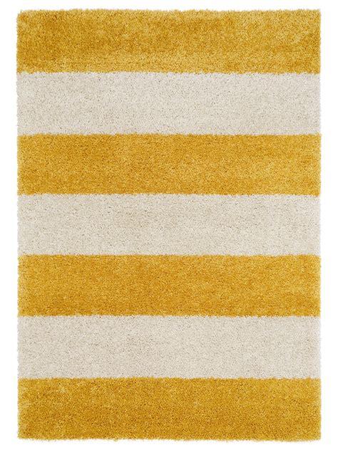Teppich Gelb Grau by Benuta Hochflor Shaggy Teppich Graphic Stripe Blau Gelb