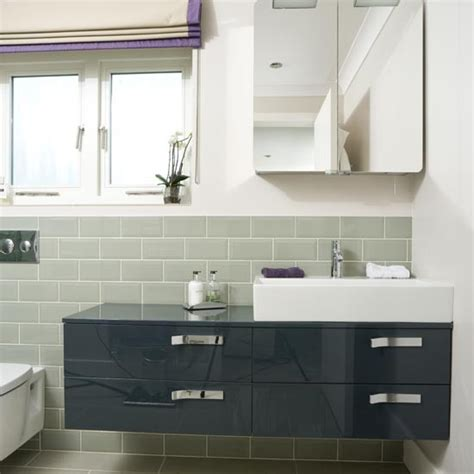 modern bathroom vanity units statement bathroom vanity unit modern bathroom makeover housetohome co uk