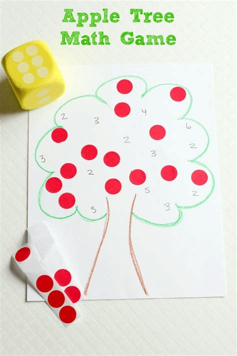 apple tree preschool apple tree roll and cover math game preschool game and
