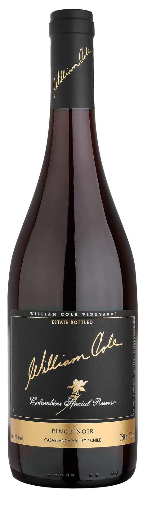 mirador columbine fotos botellas william cole vineyards