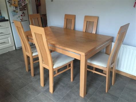 dining tables and 6 chairs sale dining table and 6 chairs for sale in clarehall dublin
