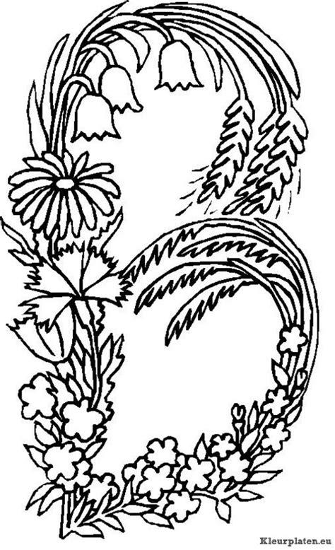 alphabet coloring pages with flowers alfabet bloemen kleurplaat 44535 kleurplaat
