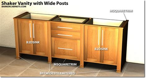 Post Cabinet Shaker Vanity With Wide Posts