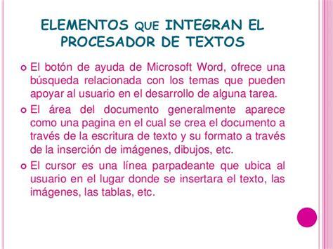procesador de texto diapositivas procesador de textos
