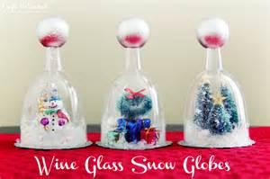 Diy snow globe tutorial wine glasses crafts unleashed