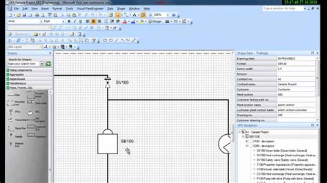 Drawing P Id In Visio by P Id Software Visual Plantengineer 2010 For Visio