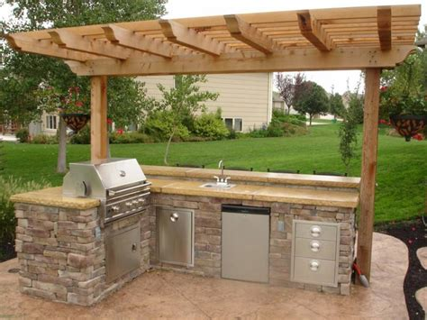 small outdoor kitchen patio ideas pinterest small