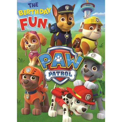 printable birthday card paw patrol paw patrol birthday card from ocado