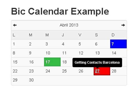 bootstrap templates for datepicker simple jquery calendar and schedule plugin for bootstrap