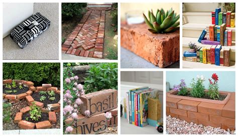Craft Ideas For Home Decor Pinterest How To Decorate Your Home And Garden With Bricks