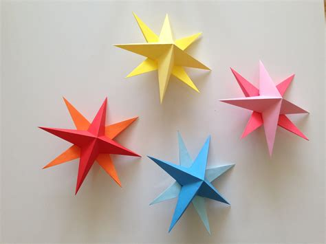 How To Make 3d On Paper - how to make simple 3d origami paper