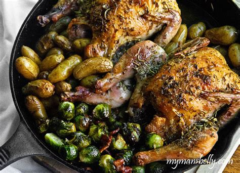 one pot meals cast iron skillet roasted game hens my