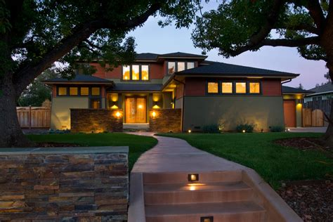 Prairie Style Lighting With Clay Roof Tile Exterior Prairie Style Outdoor Lighting