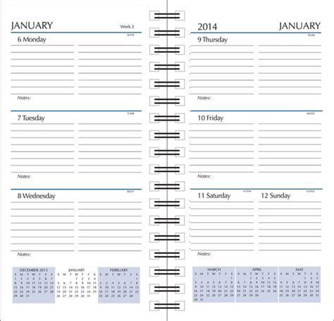 Calendar Refills Calendar Refills 2017 Calendar Refills For Planners And