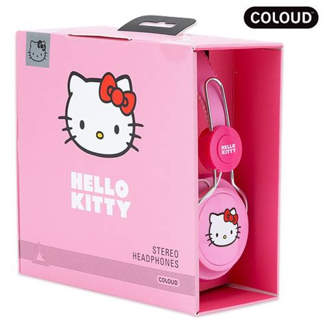 Headphone Hello Pink Import Bagus Cantik 2 hello sanrio coloud zd headphone phone stereo ear pink label new