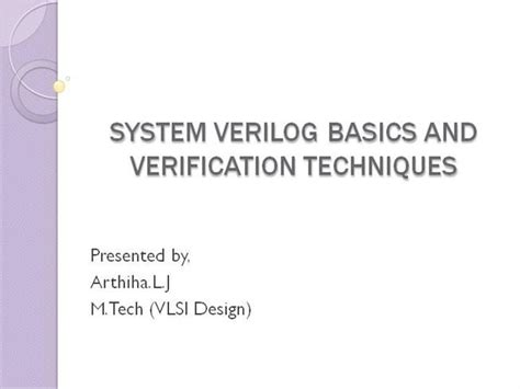 powerpoint templates for vlsi system verilog authorstream