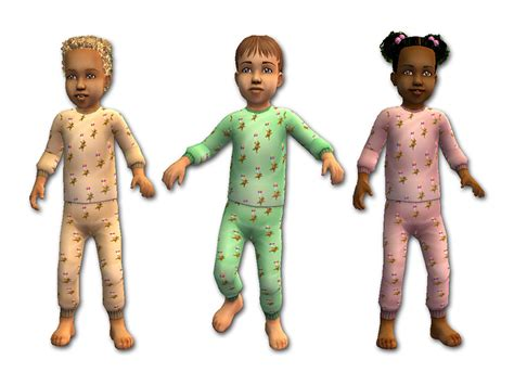 two pajamas for toddlers mod the sims two pajamas for toddlers fixed