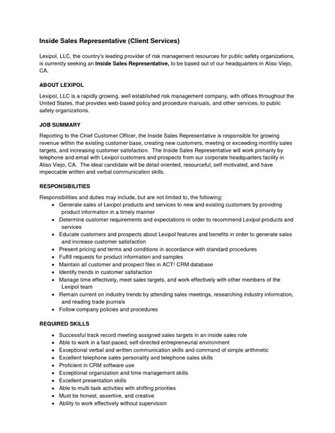 resume exles for sales representative sales representative duties resume resume ideas