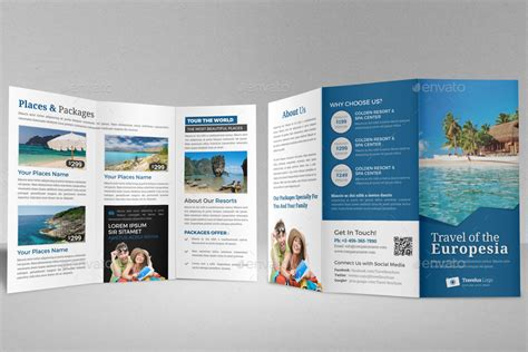 travel trifold brochure indesign template v2 by