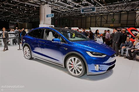suv tesla blue tesla showcases model x suv at geneva motor show in