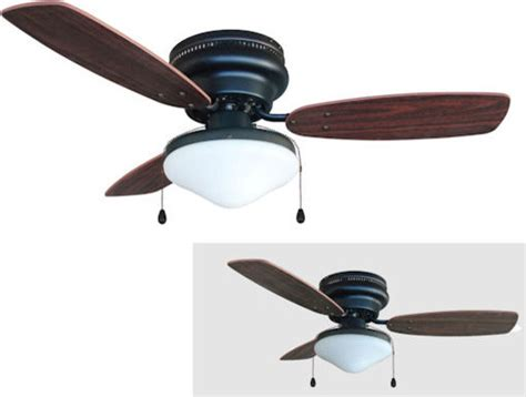 corner ceiling fans rubbed bronze 42 quot hugger ceiling fan w light kit
