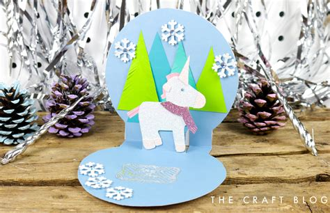pop up snow globe card template card shape of the month pop up un the craft