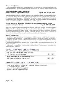 information technology it resume sle professional