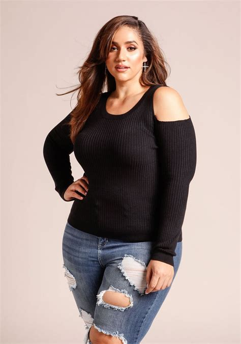 Derin Top By Fa Fashion plus size cold shoulder ribbed knit top so beautiful erica lauren
