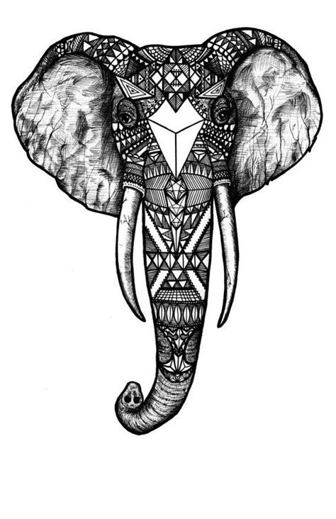 tattoo elephant sketch pattern elephant black and white black and white digital