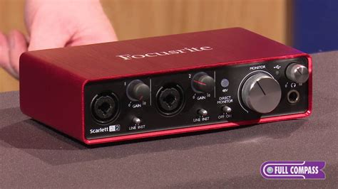 Focusrite 2i2 2nd Audio Interface focusrite 2i2 2nd 2x2 usb 2 0 audio interface overview compass