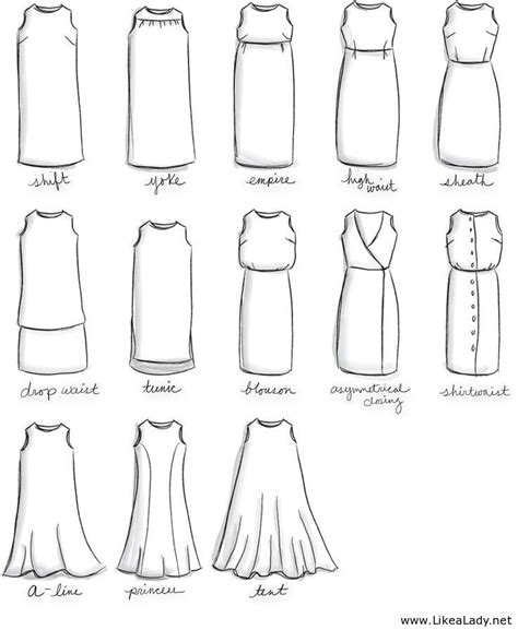 dress pattern names names for types of dresses fashion terms pinterest