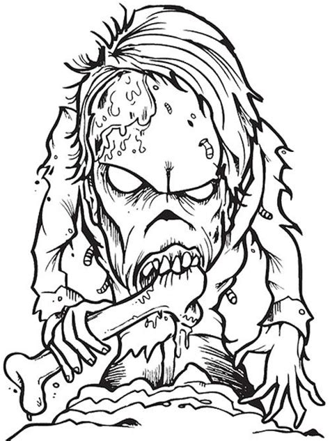 zombie creepy coloring page wicked cool holiday coloring