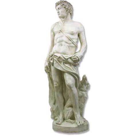 statues of gods apollo of hunt with dog 108 quot statue