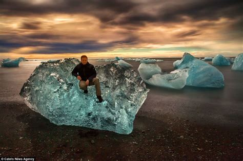 volcanic beach ice capades the true blue beauty of the icebergs of