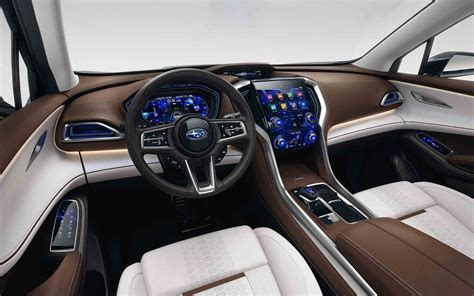 subaru suv interior comparison subaru viziv 7 concept ascent 2018 vs