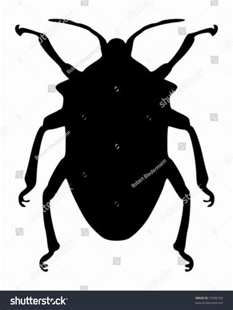 Ie8 Outline Bug by True Bug Silhouette Stock Vector 57090109