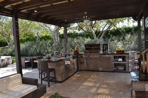 tin roof barbecue columbiana al outdoor kitchen and pergola project in south florida