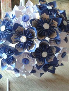 White Origami Paper Uk - royal blue and white vintage style paper lace origami