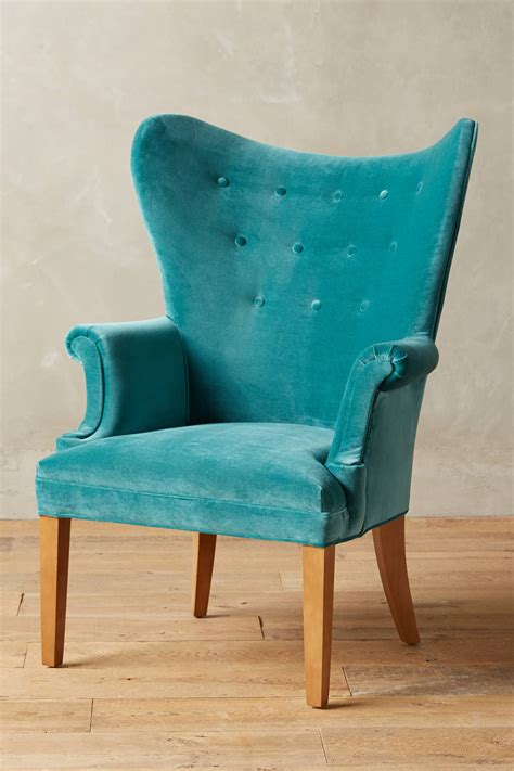 turquoise armchair teal velvet wingback chair everything turquoise