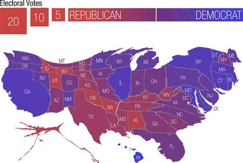 map of the us electoral votes a caign map morphed by money it s all politics npr