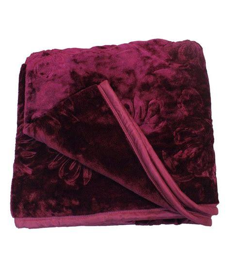 Purple 46 Fab Products by Fab Ferns Purple Colour Blanket Buy Fab Ferns Purple