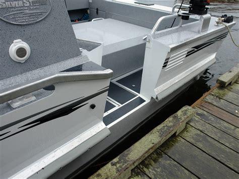 boats with side doors side entry door silver streak boats